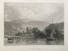 1836 Antique Print; Tintern Abbey, Monmouthshire after Copley Fielding
