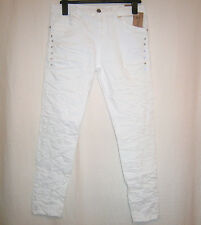 KAROSTAR: Boyfriend Damen Jeans weiss Glitzersteine 38 40 42 44 46 48 %%%