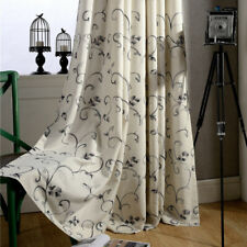Cotton Linen Curtains Cloth Simple Embroidered Window Drapes Living Room