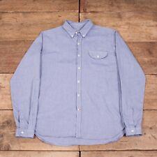 "Mens Vintage Oliver Spencer Blue Cotton Button Down Oxford Shirt Large 42"" R8194"