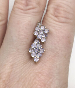 10ct 9K, Yellow Gold Tanzanite Gemstone Stud Earrings, Butterfly Fastening, Gift