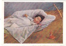 1960 RARE Sleeping chinese baby duck toy Pak Kyon Nan Russian Soviet postcard
