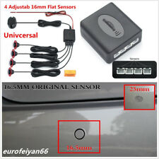 9-16V Car Adjustable Black 4Pcs 16mm Flat Hidden Reverse Parking Sensor Alarming