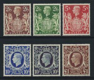 GVI 1939 HIGH VALUES. SG476/478b SET OF SIX - FINE UNMOUNTED MINT,  CAT £425.