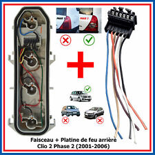 Platine Support Lampe Kit Reparation Feu Arriere pour CLIO 2 phase 2 Dci 1,2 16v
