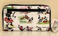 NWT! Disney Parks Mickey, Minnie & Pluto Retro Zip-Around Wallet!