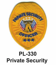 """PRIVATE SECURITY(A) EMBROIDERED PATCHES 4"""""""