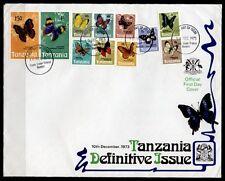 Schmetterlinge. FDC. Tansania 1973
