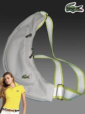 LACOSTE Ladies Womens Shoulder Backback Bag Casual 2.11 Dove Grey AUTHENTIC