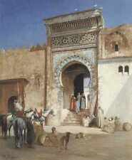 Victor Pierre HUGUET arabes en dehors de la mosquée A4