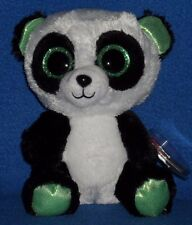 "TY BEANIE BOOS - YUMI the 6"" PANDA BEAR - JUSTICE EXCLUSIVE - MINT with MINT TAG"