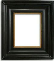 """4"""" Classic Black With Gold Plein Air Picture Frame art gallery L4B frames4art"""