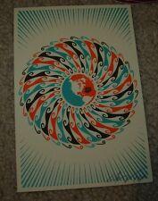 ERNESTO YERENA Silkscreen Print GLOBAL FLOW Handbill poster shepard fairey