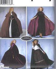 PATTERN CAPE XS-L hood caplet renaissace Medieval s5794 NEW sewing