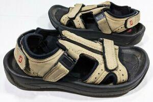 FootJoy Womens Size 7m Tan Beige Zip Up Hook And Loop Golf Sandals Style 48672