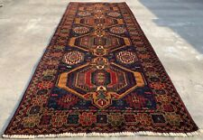 Authentic Hand Knotted Afghan Balouch Wool Area Runner 8 x 3 Ft (1476 Hm)