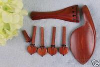 1set redwood 4/4 violin tailpiece End pin Violin peg chin rest new #696-1