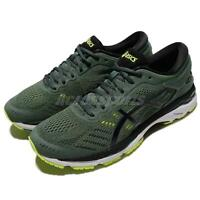 Asics Gel-Kayano 24 Dark Forest Green Black Men Running Shoes Trainer T749N-8290