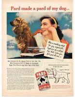 1945 Pard Dog Food Cocker Spaniel Vtg Print Ad
