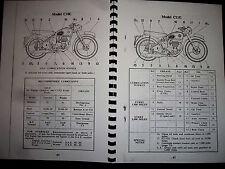 BSA C10L & C11G 1954 MAINTAINANCE & INSTUCTION BOOK MC.639-20 BH10