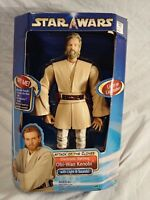 Star Wars Attack Of The Clones Electronic Obi Wan Kenobi 12 Inch Figure 2002