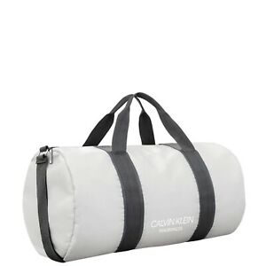 CALVIN KLEIN Light Grey Barrel StyleWeekend Travel / Gym / Holdall / Duffle Bag