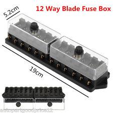 Universal Car Truck Boat 12 Way 12V Standard Circuit Blade Block Fuse Box Holder