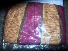 NIP Burgundy/Gold Stripped Dual King Bed Skirt