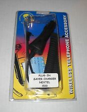Car Plug-In Saver Charger for Nextel i500, BRAND NEW