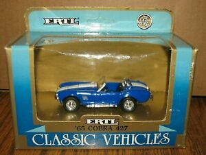 Ertl 1965 FORD SHELBY COBRA 427 Sports Car Classic Vehicles Toy 1:43 1990 blue