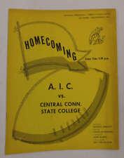 AIC vs Central Connecticut State AIC Park Football 1963 Program J69044