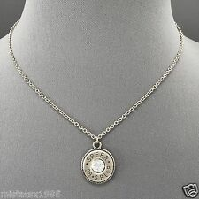 Simple Unique Silver Chain Rhinestone Speer 38 Shotgun Shell Charm Necklace