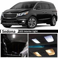 14x White Interior LED Lights Package Kit for 2014-2016 Sedona Van