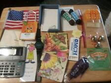 Junk Drawer Lot 18 + Misc Items Watch, Coasters, flag, posits, shoe laces, Calu