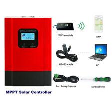 60A MPPT Solar Panel Charge Controller 12V/24V/36V/48V Auto with WiFi Mobile APP