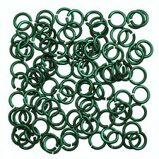 Aluminium Chain Maille 5mm Jump Rings 1.2mm Green Pack of 100 (P55/5)