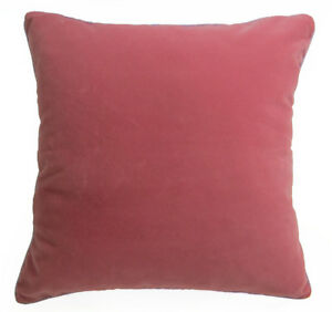 Mb60a Deep Pink Plain Flat Velvet Style Cushion Cover/Pillow Case *Custom Size*