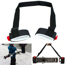 Adjustable Winter Ski Board Pole Fixing Strap Shoulder Hand Carrier Lash Mgic