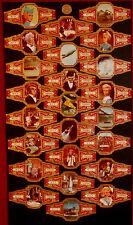 Vintage THUNDERBIRDS: FULL SET of 24 LARGE Confectionery CIGAR bands