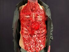 Bloody Torso Gory Zombie Chest Piece Apron Halloween Guts Heart Vest Fancy Dress