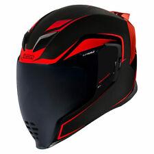 Icon Motorsports Airflite Motorcycle Full Face Helmet Crosslink Red