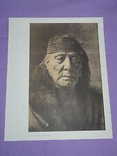 "Edward Curtis Native American Indian Vintage Photo Print ""BEAR'S TEETH -ARIKARA"""