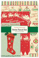 Cavallini - Petite Parcel Set - Vintage Christmas - 12 Gift Bags, Tags & Sticker