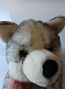 "Aurora Super Mush Husky Grey Gray Plush Stuffed Dog 28"" Inches"