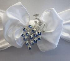 Peacock  Diamante Brooch Women Accesories Wedding Chair Decor Pack of 6
