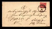 Germany 1876 Cover / Weimar to Colleda / Nice Back Seal - L11662