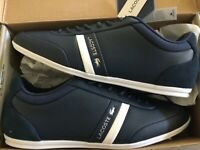 New Lacoste Storda Navy Men's Size 9 USA Casual Shoes Croc