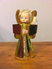 vintage Retro kitsch christmas Tree Top angel fairy