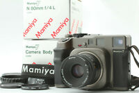 【N MINT+】 Mamiya 7 Medium Format Film Camera, N 80mm F4 L Lens & Hood From JAPAN