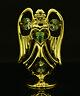 SWAROVSKI CRYSTAL ELEMENT DECEMBER BIRTHSTONE BLUE ZIRCON ANGEL 24K GOLD PLATED